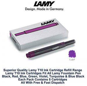 Lamy violet pourpre Stylo plume Cartouche d'encre T10 Recharges remplacement - Pack Of 5 (25 Ink Cartridges) de la marque Lamy image 0 produit