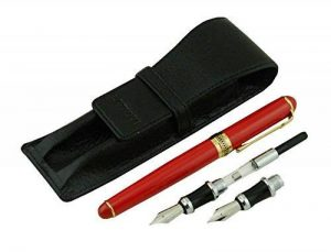 Lanxivi Duke Rouge stylo plume interchangeables asiatique Stylo de calligraphie Cuir pour stylo Ensemble Black Case de la marque Lanxivi image 0 produit