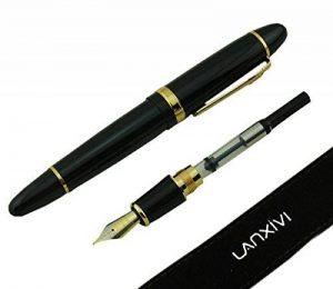 Lanxivi jinhao 159 stylo-plumes laque noire poche gros stylo doré de la marque Lanxivi image 0 produit