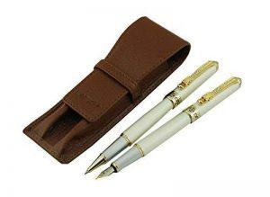 Lanxivi Jinhao Dragon Clip 1000Argent stylo plume stylo roller Stylo de cuir de transport Coffee Case de la marque Lanxivi image 0 produit