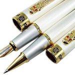 Lanxivi Jinhao Dragon Clip 1000Argent stylo plume stylo roller Stylo de cuir de transport Coffee Case de la marque Lanxivi image 2 produit