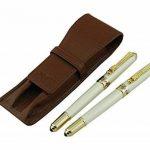 Lanxivi Jinhao Dragon Clip 1000Argent stylo plume stylo roller Stylo de cuir de transport Coffee Case de la marque Lanxivi image 3 produit