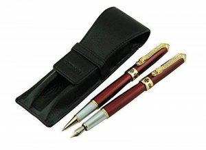Lanxivi Jinhao Dragon Clip 1000Rouge foncé Stylo plume stylo roller Stylo de cuir de transport Black Case de la marque Lanxivi image 0 produit