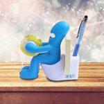 Le Butt Station Fournitures de Bureau - Dévidoir de Ruban Amusant - Porte Accessoires de Bureau Rigolo et Sympa avec Rouleau de Ruban, Trombones, Notes Adhésives et Stylo Inclus - (Bleu) de la marque Butt Supplies image 1 produit