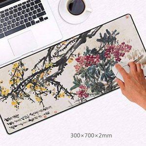 Le tapis de souris large haute définition d'une épaisseur de peinture et calligraphie peinture chinoise peinture La peinture de paysage 30*70 Le bureau du gestionnaire de bureau ,G de la marque JRBB image 0 produit