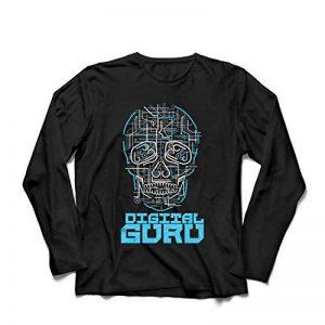 lepni.me T-Shirt Manches Longues Homme Le gourou du numérique - Idées Cadeaux technologiques, informatiques, programmeurs ou Joueurs de la marque lepni.me image 0 produit