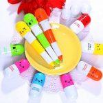 Lesley Pierce 6Pcs Multicolor Vitamine Pilule Stylo à Blle Bic Rétractable(Couleur Aléatoire) de la marque Lesley Pierce image 1 produit
