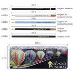 LOETAD 60PCS Crayons de Couleur avec Boîte en Métal Crayon de Coloriage Idéal pour Artiste Sketch Adulte Enfant de la marque LOETAD image 2 produit