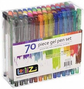 LolliZ Lot de 70 Stylos Billes à Encre Gel Multicolores de la marque LolliZ image 0 produit