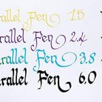Lot 1coloriage plume calligraphique Pilot Parallel Pen plumin 1.5mm rechargeable + Boîte avec 6recharges couleur noir plume Pilot Parallel Pen de la marque Pilot Parallel Pen image 4 produit