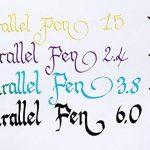 Lot 1coloriage plume calligraphique Pilot Parallel Pen plumin 2.4mm rechargeable + Boîte avec 6recharges couleur noir plume Pilot Parallel Pen de la marque Pilot Parallel Pen image 4 produit