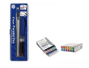 Lot 1coloriage plume calligraphique Pilot Parallel Pen plumin 6.0mm rechargeable + Boîte avec 12recharges assorties Stylo Pilot Parallel Pen de la marque Pilot Parallel Pen image 0 produit