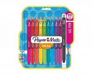 Lot de 10 stylo gel Paper Mate Inkjoy, couleurs amusantes de la marque Papermate image 0 produit