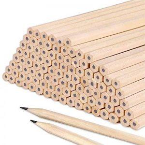 Lot de 100crayons HB en bois naturel pour enfants, étudiants, professeurs, au bureau, à l'école - Fourniture de dessin, d'écriture de la marque Face Like image 0 produit