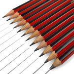 Lot de 12 crayons à papier de la marque Staedtler pour dessin et esquisse, avec crayon B, 2B, 3B, 4B, 5B, 6B, HB, H, F, 2H, 3H et 4H de la marque Tradition image 1 produit