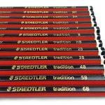 Lot de 12 crayons à papier de la marque Staedtler pour dessin et esquisse, avec crayon B, 2B, 3B, 4B, 5B, 6B, HB, H, F, 2H, 3H et 4H de la marque Tradition image 2 produit