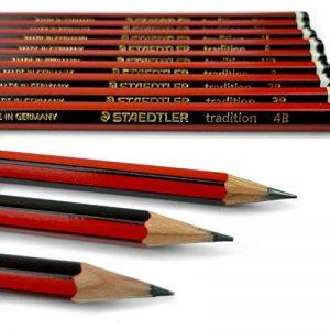 Lot de 12 crayons à papier de la marque Staedtler pour dessin et esquisse, avec crayon B, 2B, 3B, 4B, 5B, 6B, HB, H, F, 2H, 3H et 4H de la marque Tradition image 0 produit