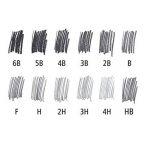 Lot de 12 crayons à papier de la marque Staedtler pour dessin et esquisse, avec crayon B, 2B, 3B, 4B, 5B, 6B, HB, H, F, 2H, 3H et 4H de la marque Tradition image 3 produit