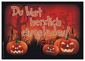 Lot de 12invitations/Halloween effrayant drôles Cartes d'invitation pour vos Halloween Party/Idéal aussi pour les anniversaires des Garçons et Filles/original artup de la marque ArtUp.de image 0 produit