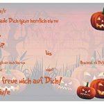 Lot de 12invitations/Halloween effrayant drôles Cartes d'invitation pour vos Halloween Party/Idéal aussi pour les anniversaires des Garçons et Filles/original artup de la marque ArtUp.de image 1 produit