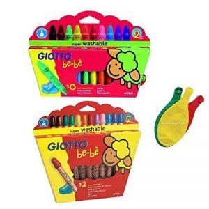 Lot de 2 boîtes Giotto Bébé: Maxi crayons de couleur bois + Maxi crayons incassables cire + 3 Ballons Blumie de la marque Blumie Shop image 0 produit
