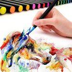 Lot de 20 stylos pinceaux - Fournitures artistiques - Pour livres de coloriage, à faire soi-même - Esquisses, carnet, calligraphie, peinture - Pinceau à eau avec pointe feutre inclus de la marque Tomaxis image 4 produit