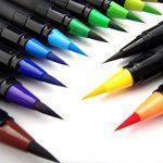 Lot de 20 stylos pinceaux - Fournitures artistiques - Pour livres de coloriage, à faire soi-même - Esquisses, carnet, calligraphie, peinture - Pinceau à eau avec pointe feutre inclus de la marque Tomaxis image 5 produit