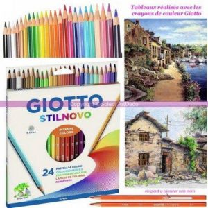 Lot de 24 Crayons de couleurs vives assorties Giotto Stilnovo, diam. de mine 3,3 mm de la marque Giotto image 0 produit