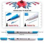Lot de 24feutres de coloriage pour Bullet Journal, 0,4mm Double pointes feutre fine et pinceau Couleur à l'eau Stylos de dessin de la marque Tomaxis image 3 produit