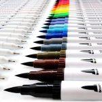 Lot de 24feutres de coloriage pour Bullet Journal, 0,4mm Double pointes feutre fine et pinceau Couleur à l'eau Stylos de dessin de la marque Tomaxis image 4 produit