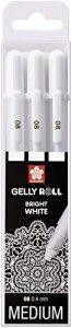 "Lot de 3stylos Sakura Gelly Roll Basic, blanc, 3stylos ""Bright White"" dans un étui de la marque Sakura image 0 produit"