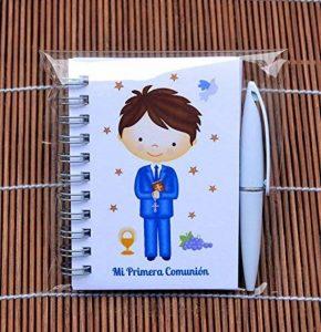 Lot de 30 carnets avec stylo de première communion de garçon à offrir aux invités de la marque Parainvitados image 0 produit