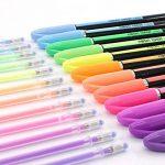 Lot de 48stylos à encre gel avec pointe de 1,0mm (12métalliques, 12à paillettes et 12craies d'eau) et 48recharges pour stylos à encre gel pour livres de coloriage pour adulte, dessins et l'écriture de la marque Laconile image 2 produit