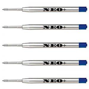 Lot de 5 recharges de stylos à bille compatibles avec Parker Bleu de la marque NEO+ image 0 produit