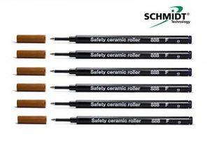 Lot de 6–Schmidt 888recharge roller à pointe fine noire de la marque Générique image 0 produit
