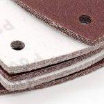 Lot de 60 triangles 93 x 93 x 93 mm abrasifs pour ponceuse Delta 6 trous, Grain 40/60/80/120/180/240 ( 10 disques par type de grain ) de la marque FD-Workstuff® image 2 produit