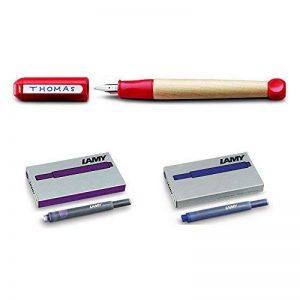 Lot Lamy Stylo plume ABC rouge+ 5 cartouches bleues + 5 cartouches Lilas de la marque Blumie Shop image 0 produit