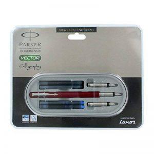 Luxar Parker Vector Standard Red Ct Calligraphy Fountain Pen Set by Luxar de la marque Luxar image 0 produit