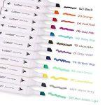 Luxbon Lot de 12 Double pointe Marqueur en tissu textiles Pigment Bien Permanent Graffiti Coloration Enfant sûr non toxique de la marque Luxbon image 1 produit
