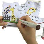 Luxbon Lot de 12 Double pointe Marqueur en tissu textiles Pigment Bien Permanent Graffiti Coloration Enfant sûr non toxique de la marque Luxbon image 4 produit