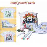 Luxbon Lot de 12 Double pointe Marqueur en tissu textiles Pigment Bien Permanent Graffiti Coloration Enfant sûr non toxique de la marque Luxbon image 5 produit
