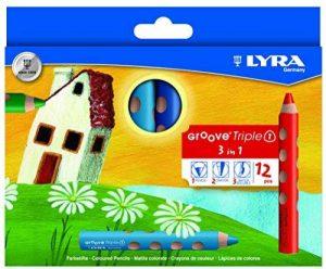 Lyra - Crayons de couleur Lyra Groove Triple 1, étui de 12 crayons 3 en 1 de la marque Lyra image 0 produit