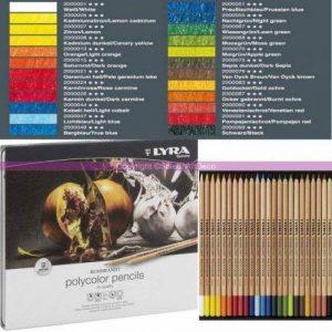 Lyra Germany Lot DE 24 Crayons Rembrandt Polycolor de Couleurs Assorties pour Artistes, en Boite Métal de la marque Lyra Germany image 0 produit