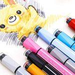 Magicdo 24 couleurs aquarelles stylos avec des timbres, lavable non toxique marqueurs colorés stylo pour enfants dessin, griffonnage et coloriage de la marque Magicdo® image 4 produit