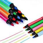 Magicdo 24 couleurs aquarelles stylos avec des timbres, lavable non toxique marqueurs colorés stylo pour enfants dessin, griffonnage et coloriage de la marque Magicdo® image 1 produit