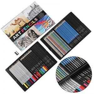 Magicfly Kit de Crayons 60 Pièces Crayons Graphite Crayons Couleur Crayons Fusains pour Croquis, Esquisse et Dessin de la marque Magicfly image 0 produit