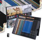 Magicfly Kit de Crayons 60 Pièces Crayons Graphite Crayons Couleur Crayons Fusains pour Croquis, Esquisse et Dessin de la marque Magicfly image 1 produit
