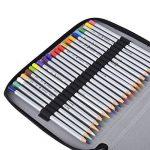 Magiin Sac Crayon de Couleur 120 Couleurs en Oxford Extérieur en PU Cuir Organisateur Crayon Porte-crayons pour Dessin - Noir de la marque Magiin image 4 produit