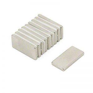 Magnetastico® | 40 aimants en néodyme N52 rectangulaire 20x10x2 mm | Magnet pour réfrigérateur Aimant tableau magnétique Aimant permanent Aimant pour tableau blanc Aimant rectangulaire Aimant parallélépipédique de la marque Magnetastico image 0 produit