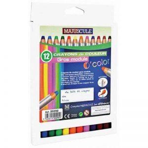 Majuscule-crayons De Couleur Gros Module 8mm - Boite De 12 de la marque Majuscule image 0 produit